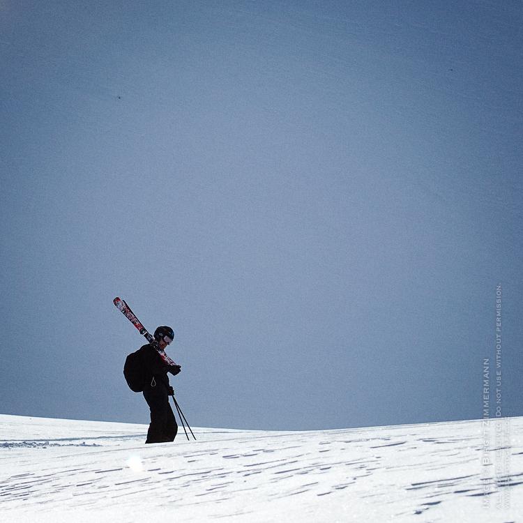 skier-stehend