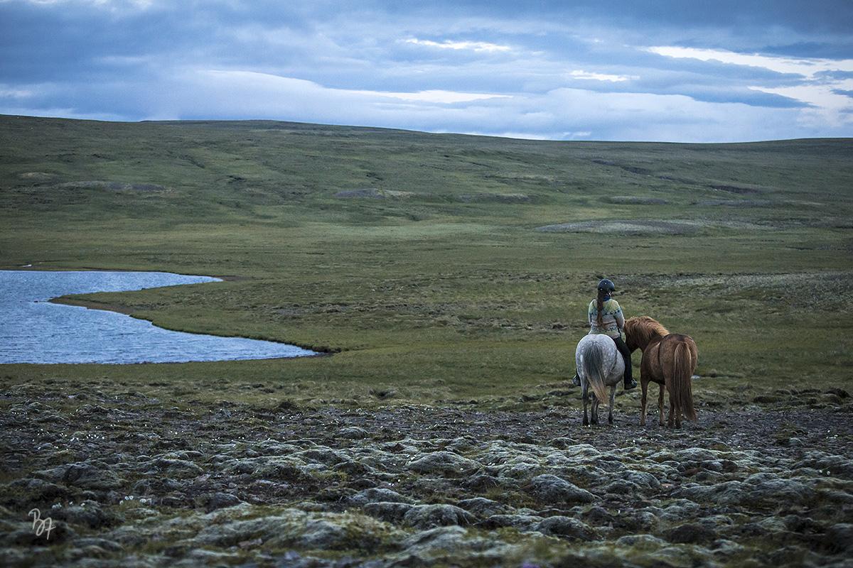 Island Nachtritt Hochland See