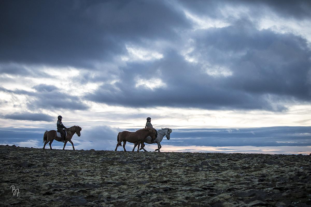 Island Nachtritt Hochland Gruppe