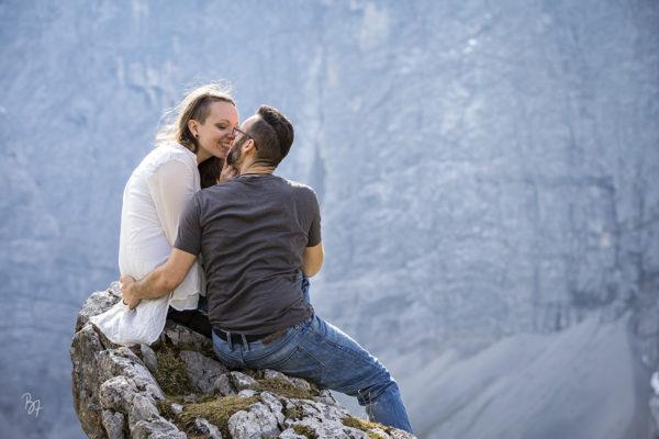 Paarsession in den Bergen