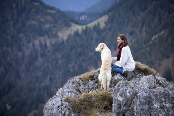 Hunde-Foto-Abenteuer in den Bergen | Mia