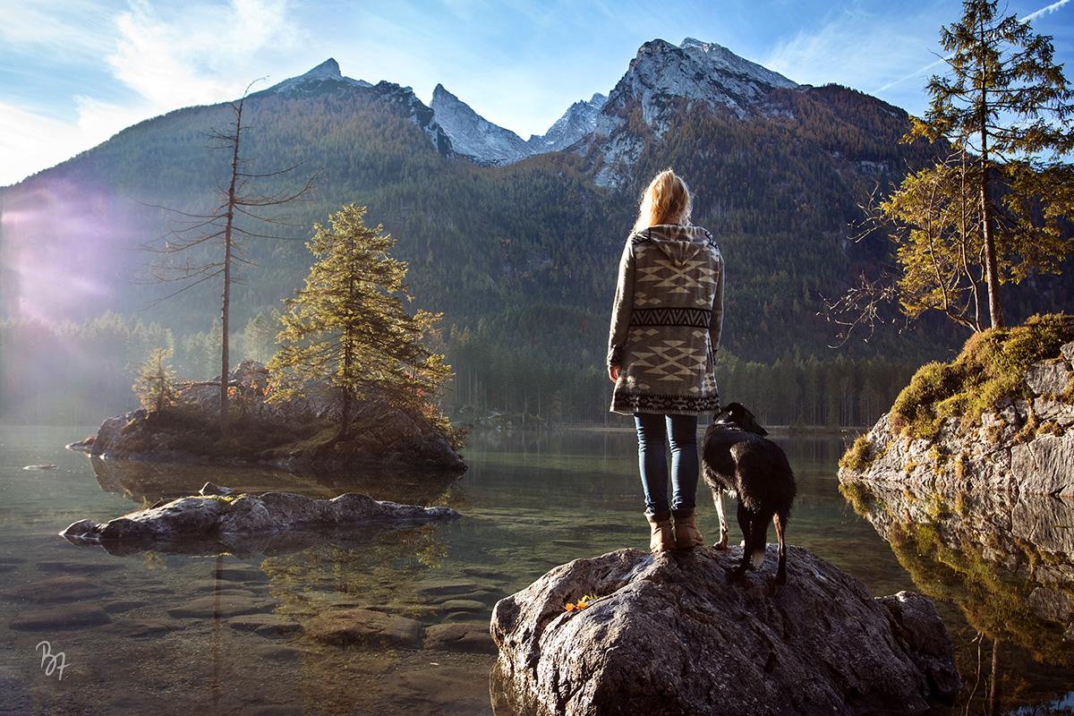 Abenteuer-Fotosession mit Hund