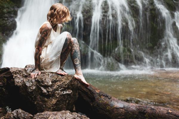Locationscouting am Wasserfall