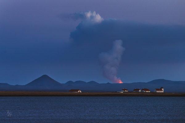 Der Vulkan hinterm Haus des Präsidenten